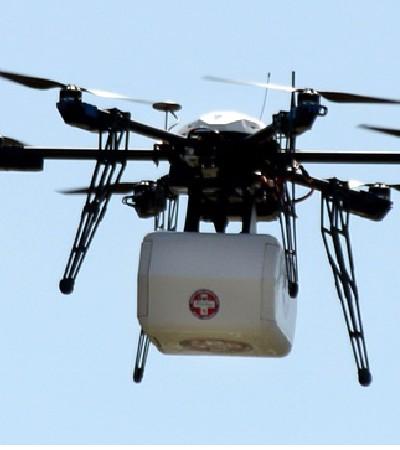 Drones con medicina- coronavirus